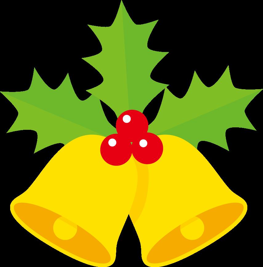 印刷用イラスト クリスマスベル