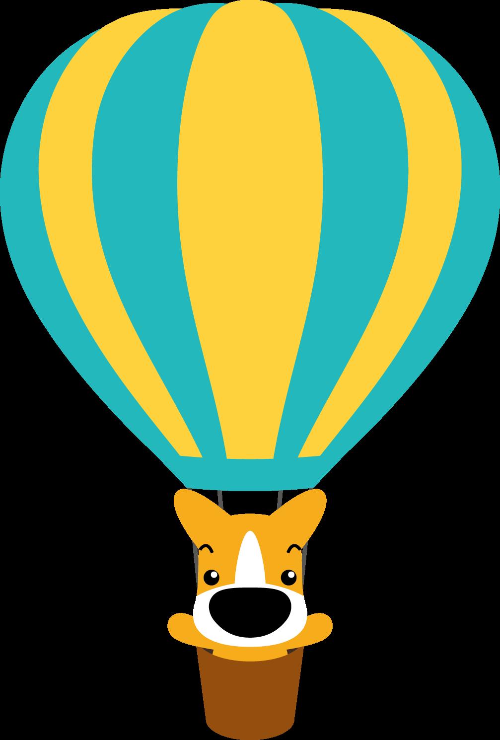 印刷用イラスト 気球(カラー ... : 無料印刷素材 : 印刷